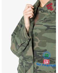 SJYP - Green Camouflage Print Jacket - Lyst