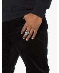 Alexander McQueen - Gray Divided Skull Ring for Men - Lyst
