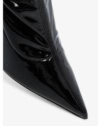 AMINA MUADDI Black Ami 95 Patent Leather Thigh-high Boots