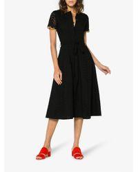 Jour/né Black Gold Trim Eyelet Midi Dress