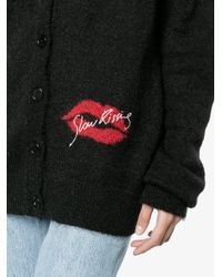 Saint Laurent Black Slow Kissing Cardigan
