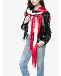 Balenciaga - Red Multi Paris Silk Scarf - Lyst