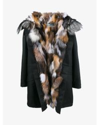 Army by Yves Salomon Black Fox Fur Lined Parka