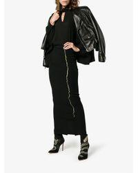 Haider Ackermann Black Fitted Pencil Skirt