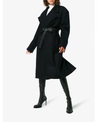 Y. Project - Blue Long Sleeve Double Breasted Oversized Coat - Lyst