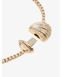 Yvonne Léon Metallic Yellow 18k Gold Diamond Shell Bracelet