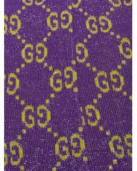 Gucci Green Gg Supreme Lurex Socks