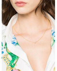 Rosa De La Cruz - Gray 18k Yellow Gold Single Diamond Necklace - Lyst
