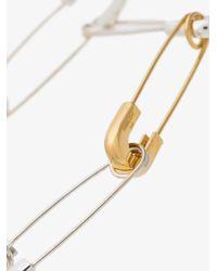 Ambush - Gray Silver Safety Pin Bracelet - Lyst