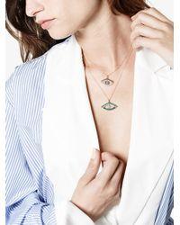 Ileana Makri - Gray Pearl Eye Pendant - Lyst