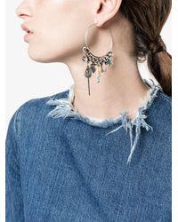 DANNIJO - Metallic Ajani Hoop Earrings - Lyst