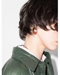 Chloé Metallic Tone, Red And Blue Franckie Earrings