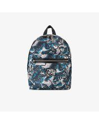 KENZO Blue Flying Tiger Backpack for men