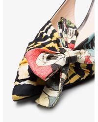 Prada Black 55 Sling Back Sandals
