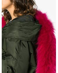 Mr & Mrs Italy Green Fur Trimmed Parka