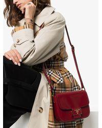 Prada Red Emblème Shoulder Bag