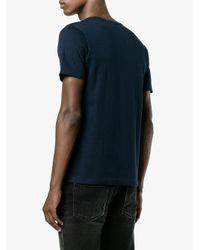 Merz B. Schwanen Blue Crew Neck T-shirt for men