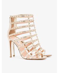 Valentino Metallic 105 Love Stud Sandals