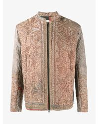 By Walid Brown Embroidered Ecclesiastical Jacket for men