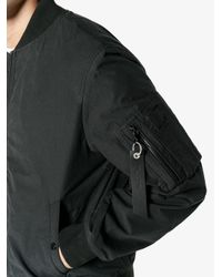 Rag & Bone - Black Camouflage Bomber Jacket for Men - Lyst