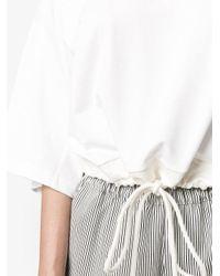 Chloé White Drawstring Blouse