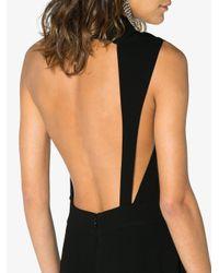 OSMAN Black Frill Halterneck Jumpsuit