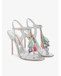 Sophia Webster Metallic Layla Tassel Embellished Sandals