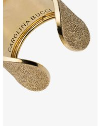 Carolina Bucci - Metallic 18k Yellow Gold Florentine Finish Cuff Ring - Lyst