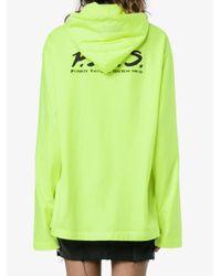 Vetements Green Oversized Pets Print Hooded T-shirt