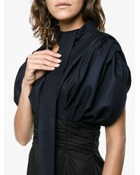 Jacquemus Black V-neck Puff Sleeve Dress