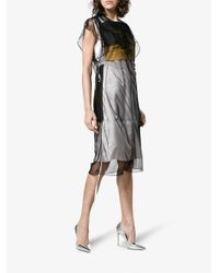 CALVIN KLEIN 205W39NYC Black X Andy Warhol Foundation Layered Tulle And Satin Dress