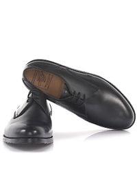 Heinrich Dinkelacker - Derby 9698 Aron Leather Black Soft Hand Sewn for Men - Lyst