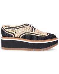 Clergerie Natural Lace Up Shoes Acajou Bast Beige Black