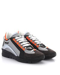 DSquared² - Gray Sneakers 551 Leather Grey Jersey for Men - Lyst