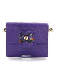 Dolce & Gabbana - Shoulderbag Dg Millennials Leather Purple - Lyst