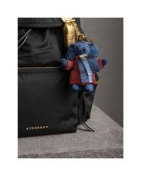 Burberry - Blue Thomas Bear Charm In Puffer Coat And Scarf - Lyst