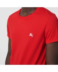 Burberry Red Cotton Jersey T-shirt for men