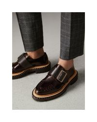 Burberry Multicolor Woven-toe Leather Shoes