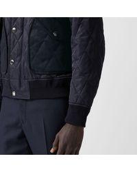 Burberry Thermoregulierende Jacke in Rautensteppung in Blue für Herren