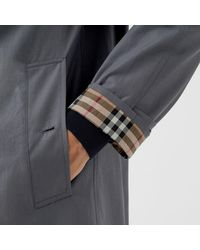 Burberry Gray The Camden Car Coat for men
