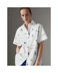 Burberry Multicolor Short-sleeve Archive Logo Print Shirt