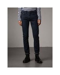 Burberry | Blue Slim Fit Over-dyed Stretch Jeans for Men | Lyst