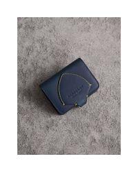 Burberry Multicolor Equestrian Shield Leather Card Case for men