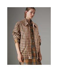 Burberry - Multicolor Lightweight Check Harrington Jacket - Lyst