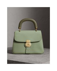Burberry The Medium Dk88 Top Handle Bag Celadon Green