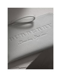 Burberry Multicolor Embossed Leather Travel Wallet