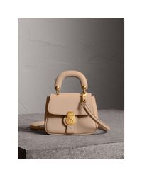 Burberry - Multicolor The Mini Dk88 Top Handle Bag In Honey   - Lyst