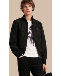 Burberry | Zip Front Packaway Jacket Black for Men | Lyst