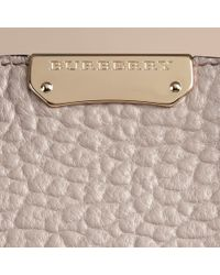Burberry - Pink The Medium Clifton Signature Grained Leather Bag - Lyst