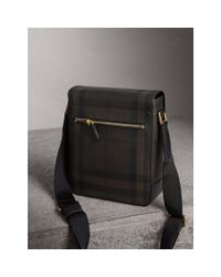 Burberry - Brown London Check Crossbody Bag Chocolate/black for Men - Lyst